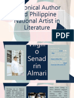 Canonical Author and Philippine National Artist in Literature