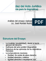 DERECHO CIVIL (ACTO JURÍDICO) - INEFICACIA - INVALIDEZ 02.ppt