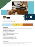 Pão Rápido de Chocolate - Tá na Mesa