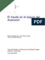 Fraude en el seguro del automovil - Universidad de Barcelona