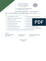 Sbm Checklist
