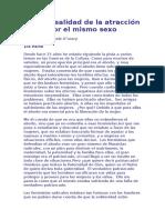 Mito y Realidad de La Atracción Por El Mismo Sexo