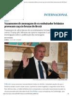Vazamentos de Mensagens de Ex-embaixador Britânico Provocam Caça Às Bruxas Do Brexit _ Internacional _ EL PAÍS Brasil