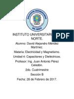 Unidad 4 Capacitores y Dieléctricos