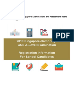 2019gcea-Level Instructions Booklet Registration Information for Schools