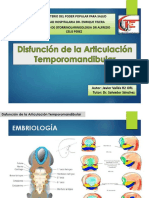Disfunción de La Articulación Temporomandibular