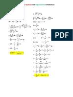 ALgebraic and Trigonometric Substitution