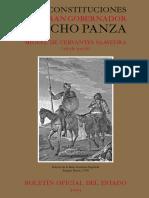 Cervantes, Las Constituciones de Sancho Panza