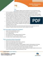 Python Training Courses Content