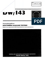 DW143 Ductwork Leakage Testing