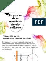 Proyección de un Movimiento Circular Uniforme en un Movimiento Armónico Simple