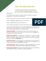 Fuentes de Información, tipos y definiciones by DM