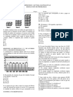 MATEMATICAS-COMPRENSION LECTORA RESOLUCION DE PROBLEMAS