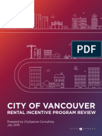 Rental Incentive Program Review Cityspaces Report July