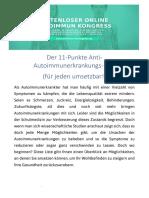11 Punkte Anti Autoimmunerkrankungs Plan 2019