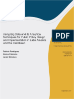Using Big Data and Its Analytical Techniques for Public Policy Design and Implementation in Latin America and the Caribbean