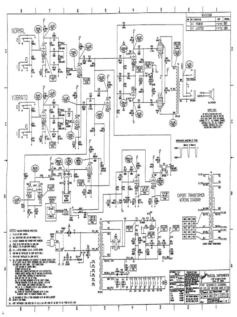Fender 65 Deluxe Reverb Schematic