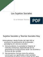 Los sujetos sociales