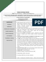 Vinod Resume Project Management