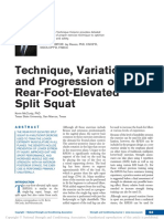 Technique, Variation, And Progression of the Rear-Foot-Elevated Split Squat