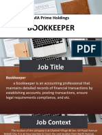 Bookkeeper Job analysis