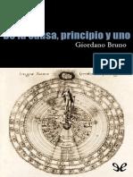 De La Causa, Principio y Uno