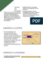 Subsidios y Arancel