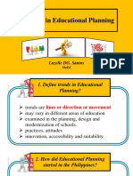 Trends in Educational Planning