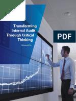 Transforming Internal Audit Through Critical Thinking 201411