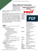 Partido Socialista Unido de Venezuela - Wikipedia, La Enciclopedia Libre