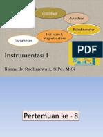 Instrumentasi Teori Refrako Spektro Fotometer Autoclave