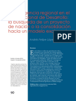Convergencia Regional en El Plan Nacional de Desarrollo