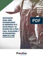 Investigación inicial sobre vulnerabilidades de gobernanza en el sector público y su relación con la pesca ilegal, no declarada y no reglamentada