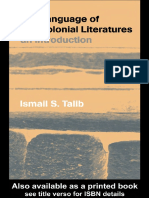 The Language of Postcolonial Literatures an Introduction
