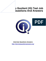 1017 Intelligence Quotient IQ Test Interview Questions Answers Guide