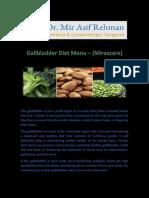 Gallbladder Diet Menu