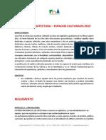 Reglamento Premio de Arquitectura 2019