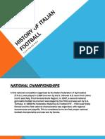 History of Italian Football