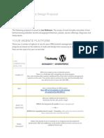 JAN ROBINSON Web Design Proposal