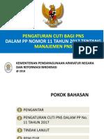 Pengaturan Cuti Bagi PNS PP No. 11 Tahun 2017