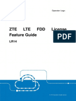 ZTE LR14 LTE FDD License Feature Guide