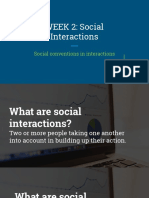 Social Interactions in communication
