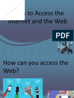 Ways to Access Inetrnet