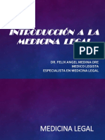 Introducción a La Medicina Legal I (Medicina Legal y Ciencias Forenses)