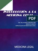 Introducción a La Medicina Legal I (Medicina Legal y Ciencias Forenses)
