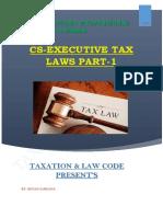 CS EXECUTIVE TAX LAWS