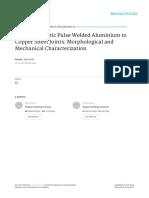 Electromagnetic Pulse Welded Aluminium to Copper S