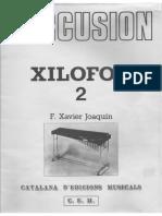 Xilofón 2. F. X. Joaquín