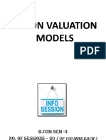 6. Option Valuation Models