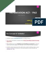 Limitation Act 1963 at a Glance